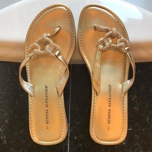 Beautiful rhinestone & gold sandals
